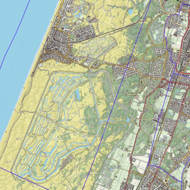 Zandvoort and Amsterdam Water irrigation dunes, Top10NL + AHN25
