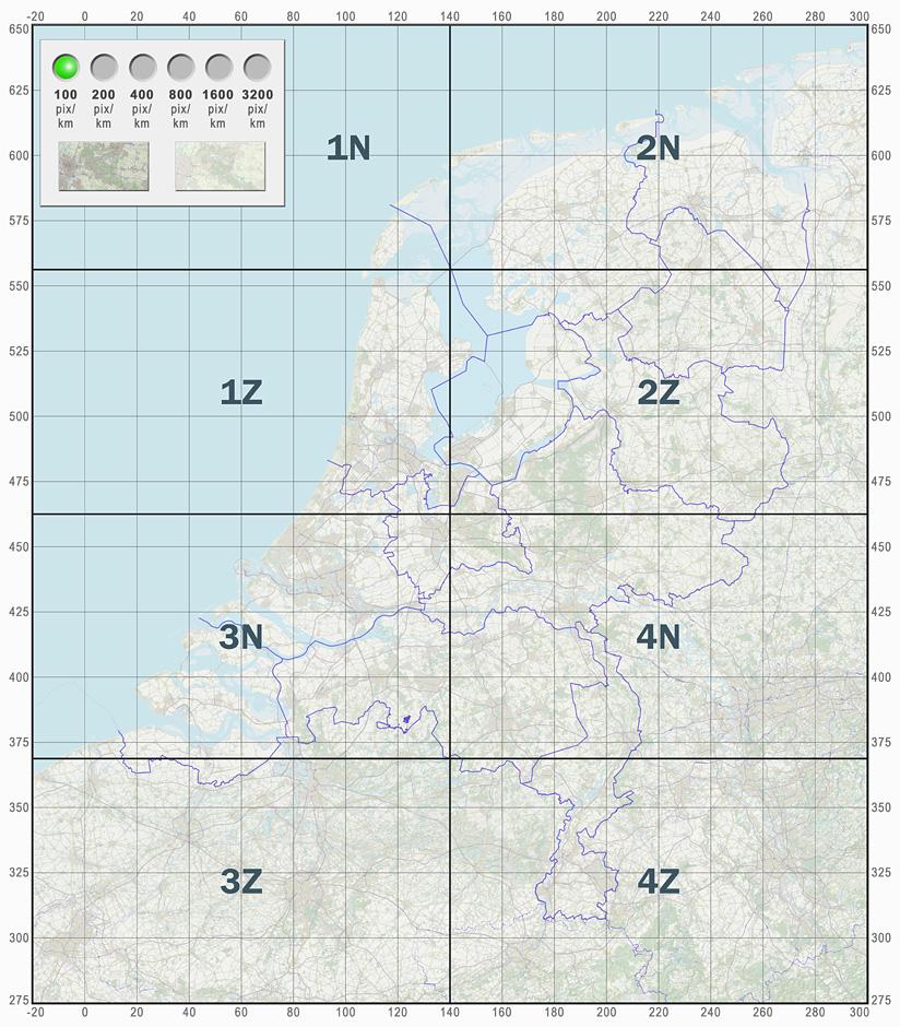 Overzichtskaart OpenTopo.nl - klik op een kaartblad om te downloaden als jpg
